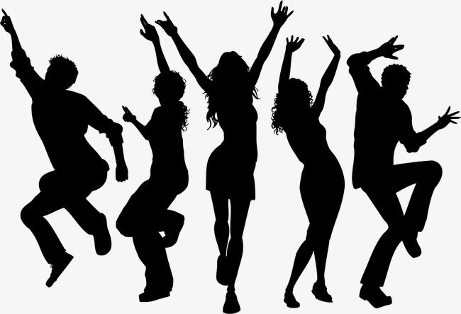 dancing silhouette figures, Vector, Cartoon, Hand Painted PNG and Vector - PNG Dancing Pictures