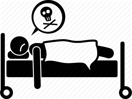 Bed, Dead, Death, Die, Died, Person Icon - PNG Dead Person