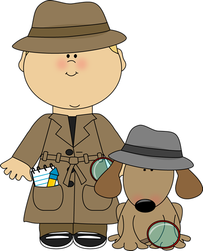 Boy Detective and Dog Clip Art - Boy Detective and Dog Image - PNG Detective Cartoon