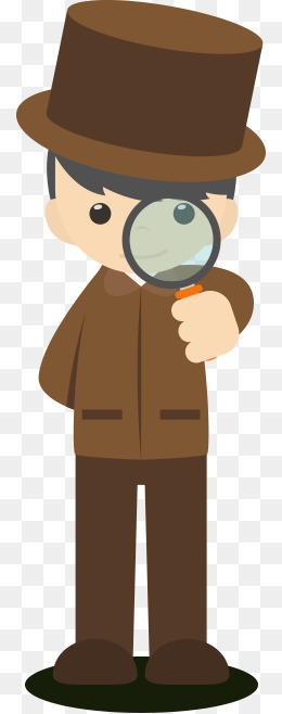Cartoon character Little Detective, Cartoon Character Little Detective, The  Study, Magnifier PNG Image - PNG Detective Cartoon