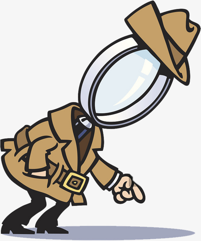 Cartoon design; detective image, Cartoon Design, Shape Image, Magnifier PNG  Image and - PNG Detective Cartoon