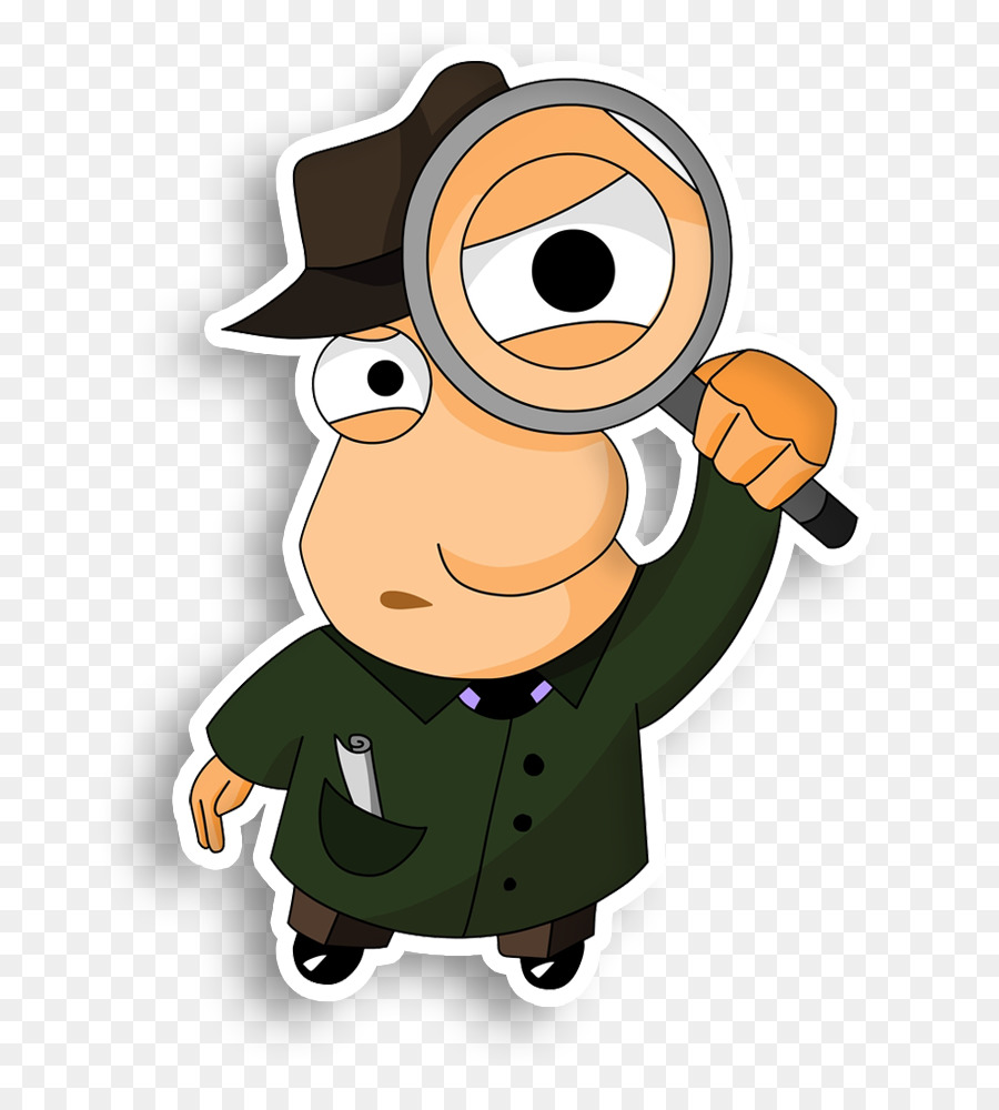 Detective Magnifying glass Private investigator Clip art - Magnifying Glass - PNG Detective Cartoon
