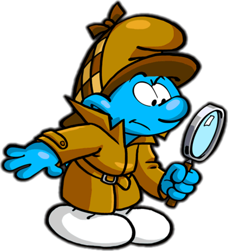 Detective smurf.png - PNG Detective Cartoon