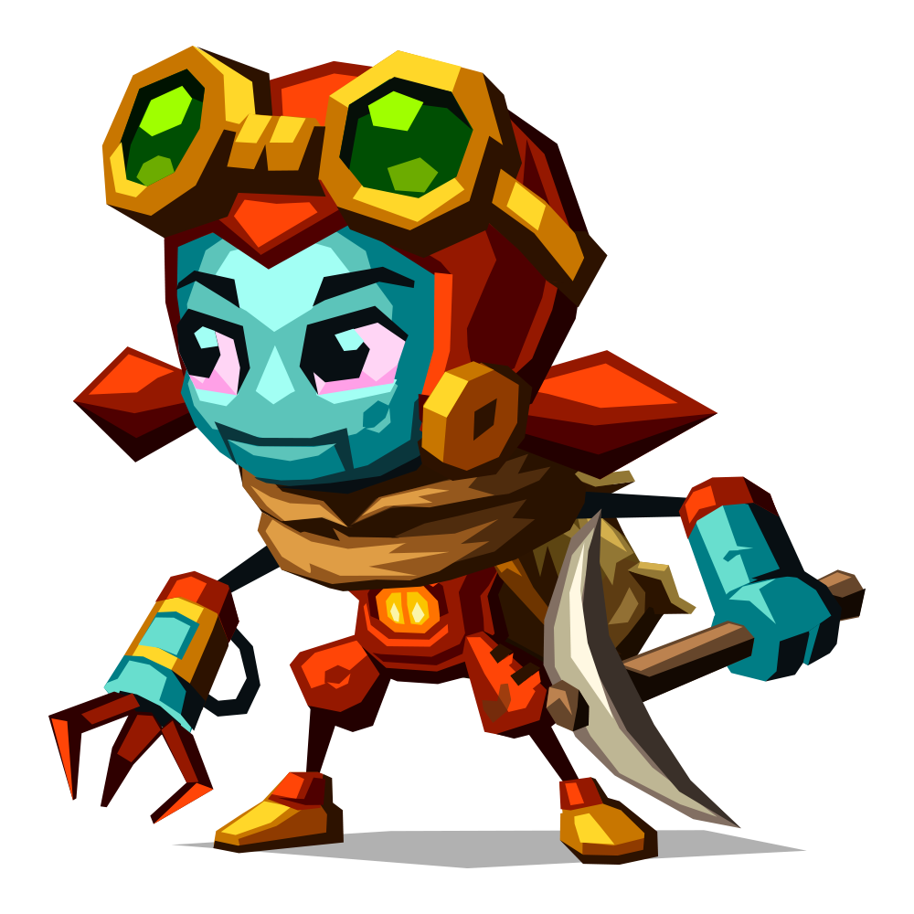 Steamworld Dig 2 Dorothy with pickaxe - PNG Dig