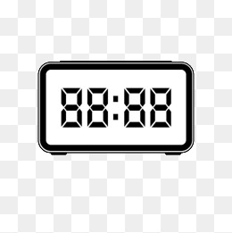 Black and white vector digital clock, Black And White, Vector, Digital PNG  Image - PNG Digital Alarm Clock