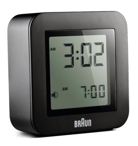 Braun - Digital Travel Alarm Clock BN-C018 - Promotional Clock - PNG Digital Alarm Clock