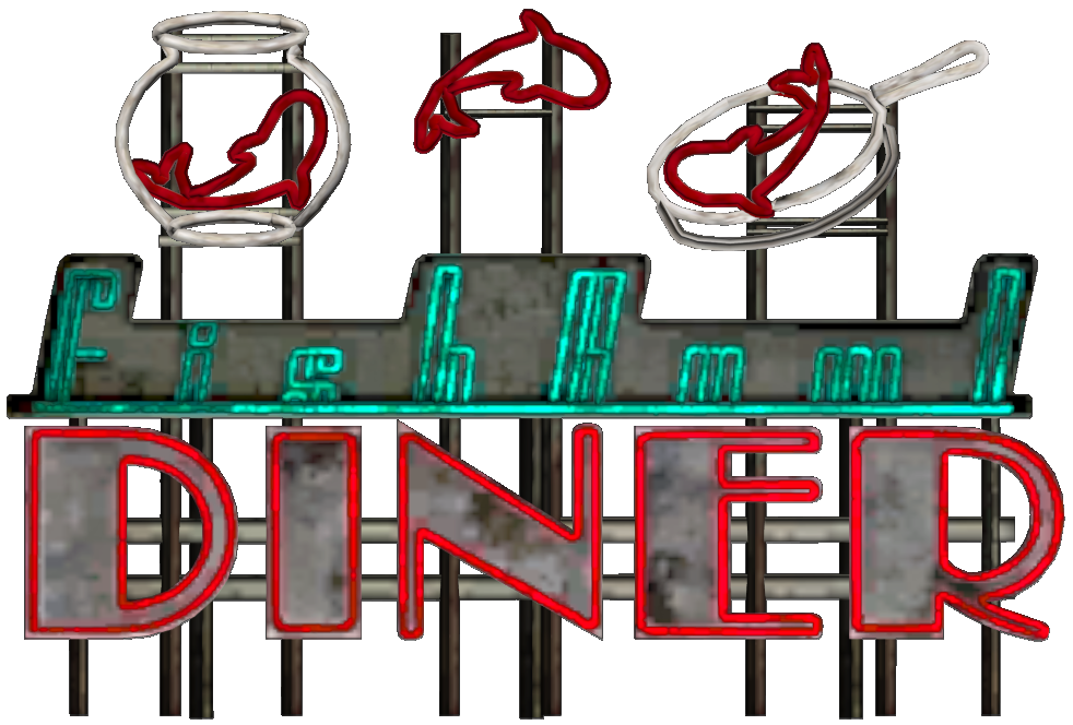 Fishbowl Diner Sign.png - PNG Diner