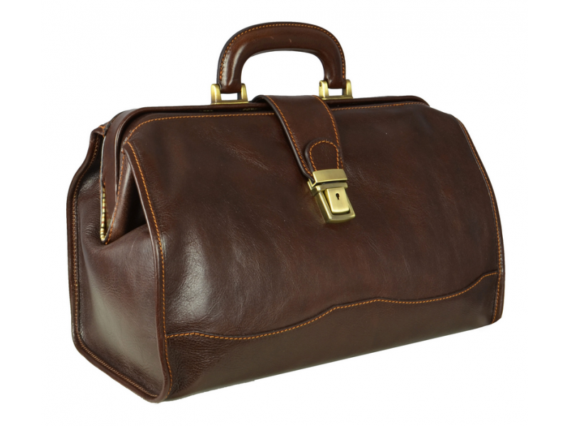 Dark Brown Leather Doctor Bag - David Copperfield for Men and Women by Time  Resistance on - PNG Doctor Bag