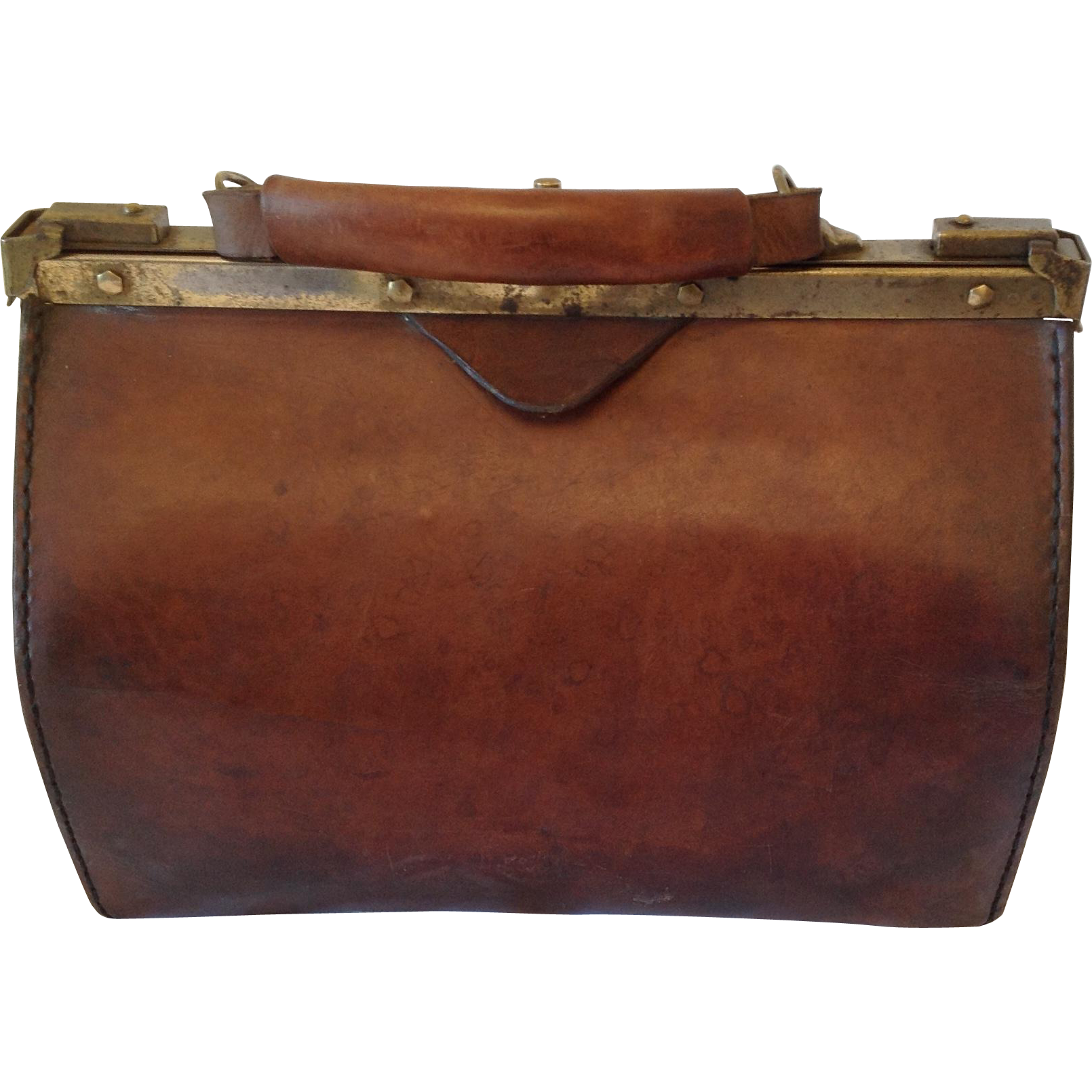 French Vintage Gladstone/Doctors bag C1920 - PNG Doctor Bag
