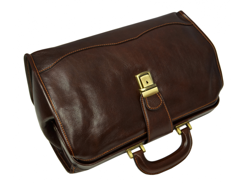 . PlusPng.com Genuine Leather Small Doctor Bag - David Copperfield PlusPng.com  - PNG Doctor Bag