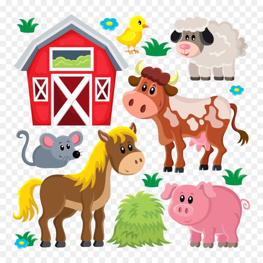 Domestic pig Livestock Sheep Farm Clip art - Vector farm animals - PNG Domestic Animals