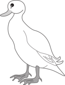 White Digital Art Duck Clip Art - PNG Duck Black And White