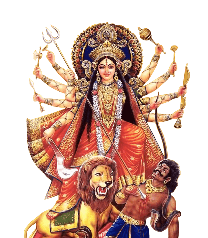 PNG Durga-PlusPNG.com-700 - PNG Durga