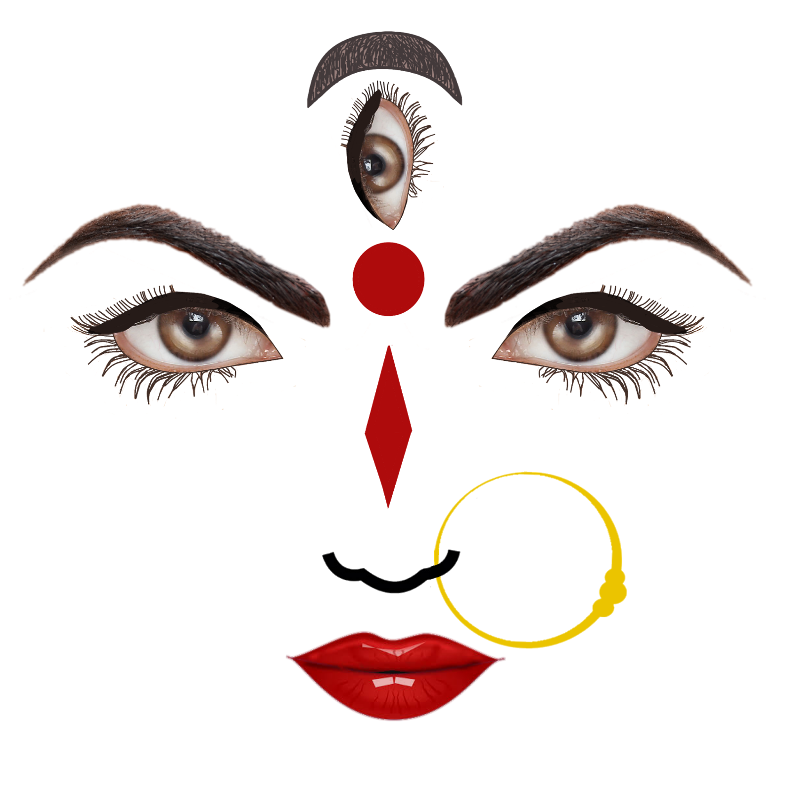 Durga Face PNG popular