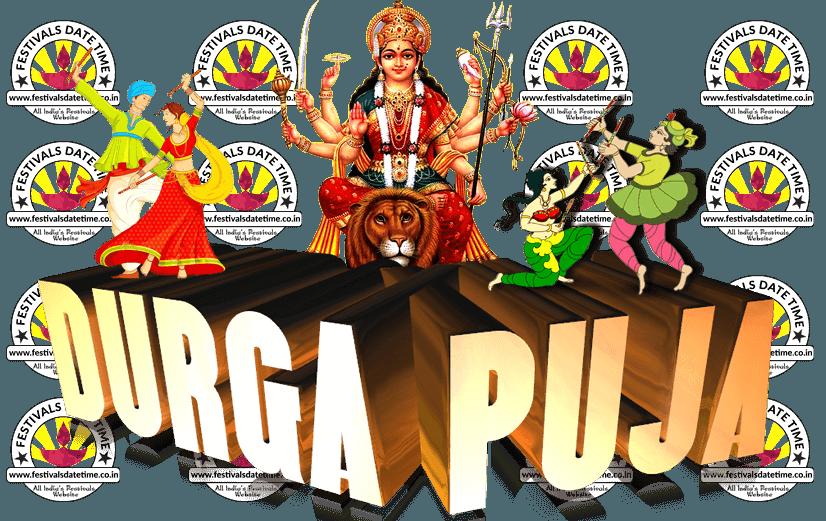 Durga Puja Transparent PNG Wa