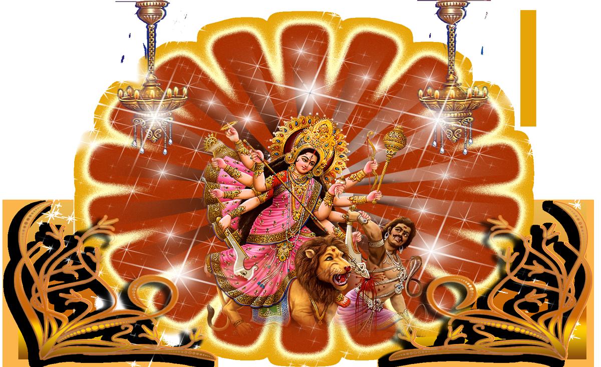 Goddess-Durga-Maa-Free-PNG-Image - PNG Durga