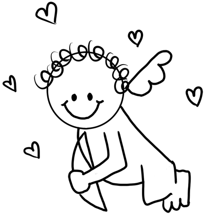 Drawing Cupid with Easy Step by Step Instructions for Preschoolers and  School Aged Kids