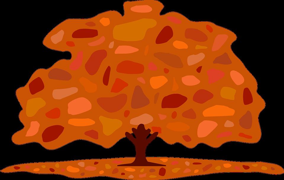 træ falde efterår løv pyntegrønt brun - PNG Efterar