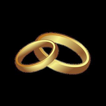 Eheringe, Hochzeit, Liebe, En