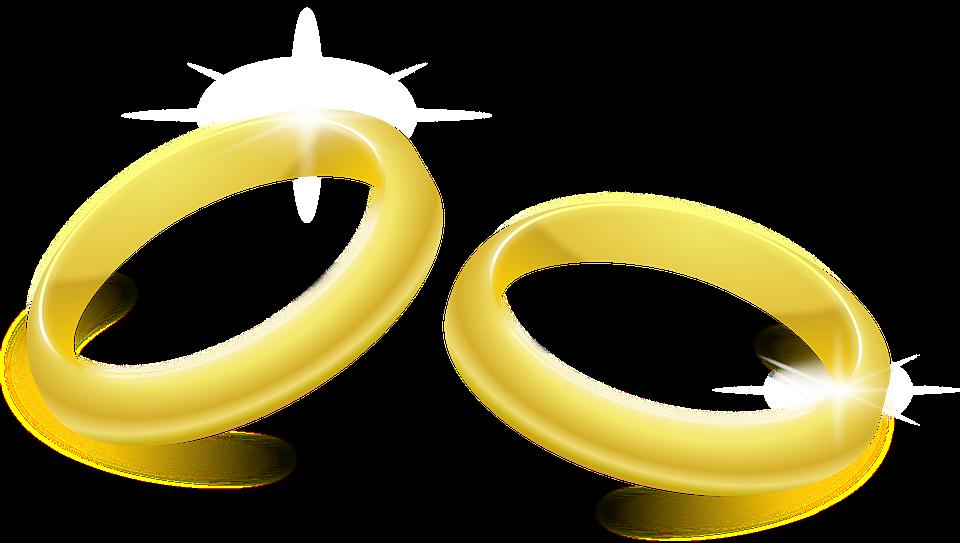 Trauringe, Schmuck, Gold, Paar, Ringe, Glänzend - PNG Eheringe Kostenlos