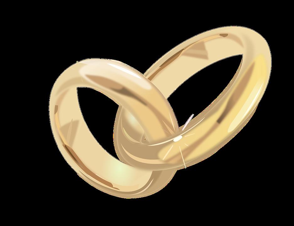 Trauringe, Ehe, Hochzeit, Ringe, Schmuck, Gold, Feier - PNG Eheringe