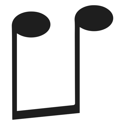 Eighth note music upside down png - PNG Eighth Note
