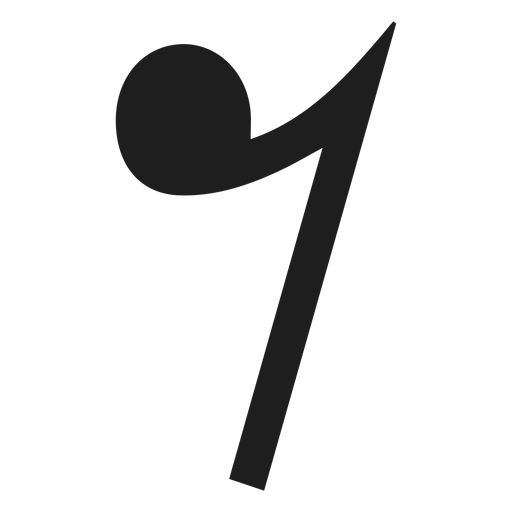 Eighth note rest png - PNG Eighth Note