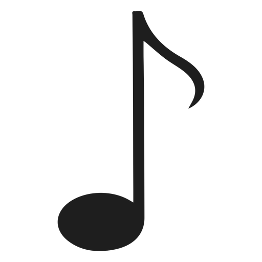 Isolated eight note png - PNG Eighth Note