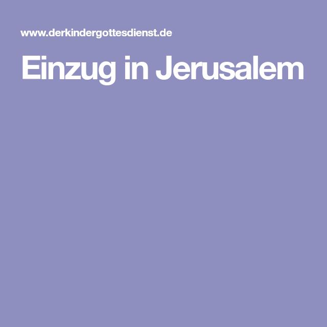 Einzug in Jerusalem - PNG Einzug