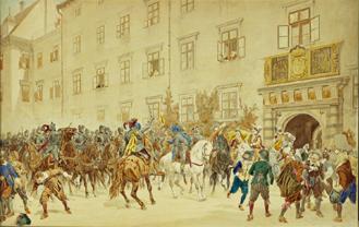 File:Einzug der Dampierreu0027schen Reiter in die Wiener Hofburg.png - PNG Einzug
