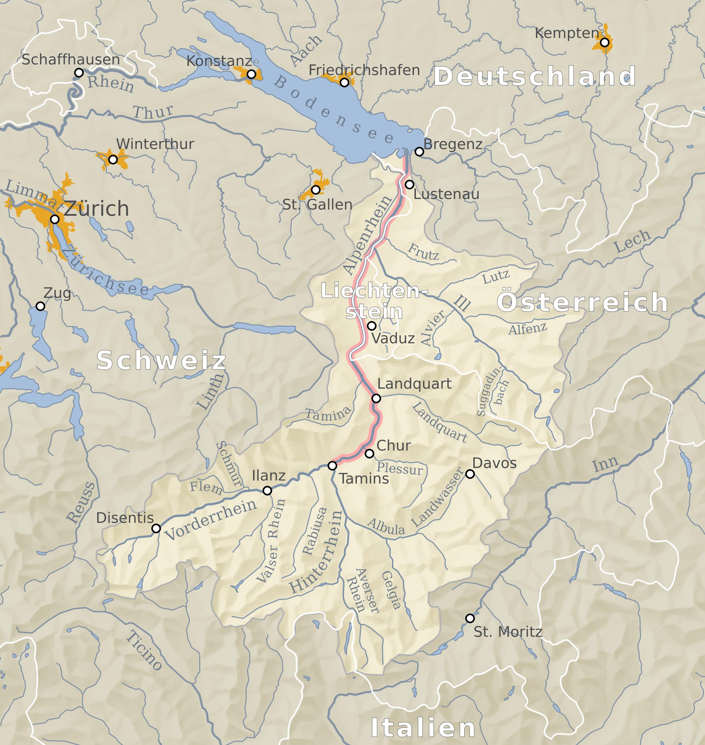 File:Einzugsgebiet Alpenrhein.png - PNG Einzug