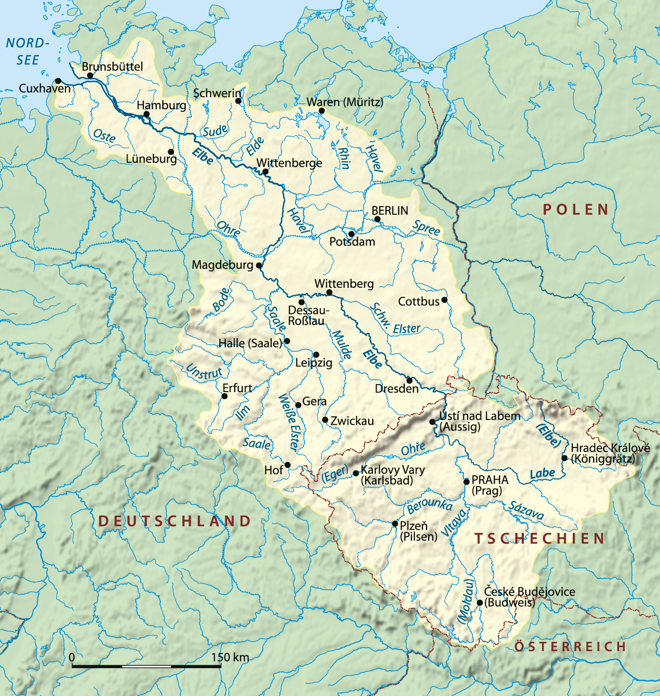 File:Elbe Einzugsgebiet.png - PNG Einzug
