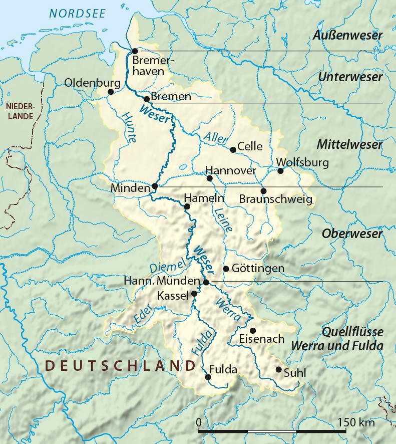 File:Weser Einzugsgebiet.png - PNG Einzug