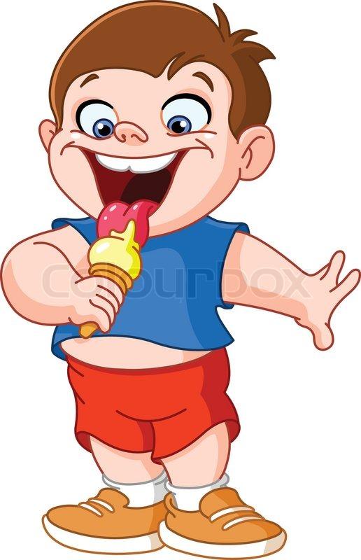 516x800 Kid eating ice cream Stock Vector Colourbox - PNG Eis Essen