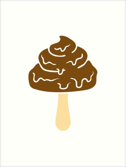 design schokolade eis stiel essen lecker sommer lutschen schlecken  exkremente kot haufen scheiße kacke häufchen ekel - PNG Eis Essen