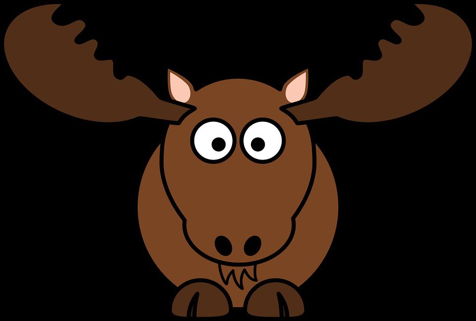 Hirsch, Säugetier, Elch, Geweih, Tier, Brown, Lustig - PNG Elch