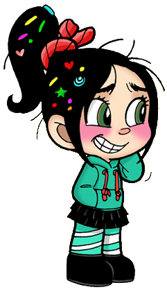 File:Vanellope Embarrassed.png - PNG Embarrassed