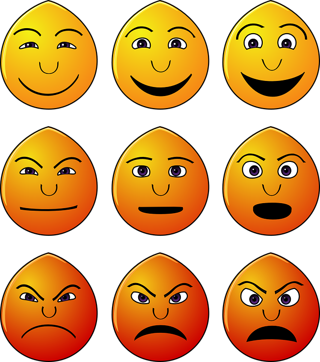 Emoticons Emotions Smilies Faces Yellow Happy - PNG Emotions Faces