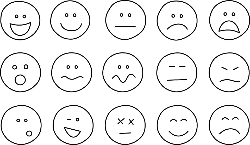 Emoticons Smiley Smilies Simple Set Emotions - PNG Emotions Faces