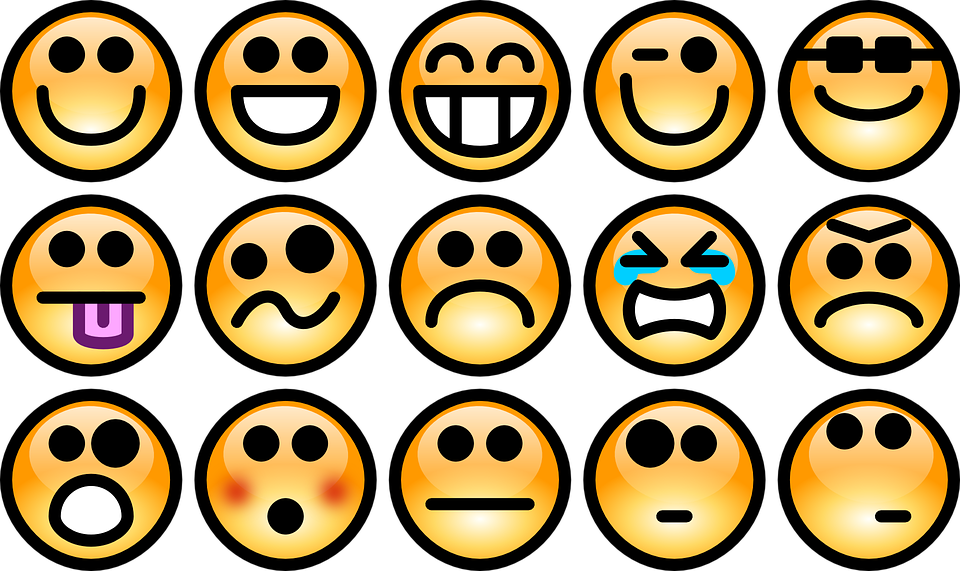 Emotions Smileys Feelings Faces Chat Expression - PNG Emotions Faces