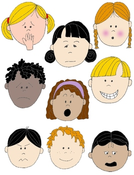 Kids In Action: Faces 2 Clip Art 18 FREE Pngs To Show Feelings And Emotions - PNG Emotions Faces
