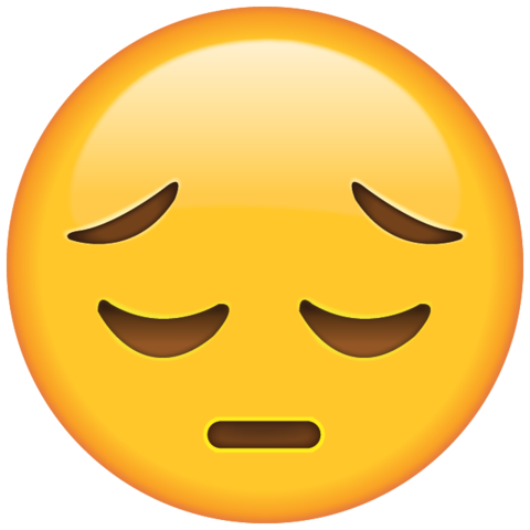 Sad Face Emoji - PNG HD Emotions Faces - PNG Emotions Faces