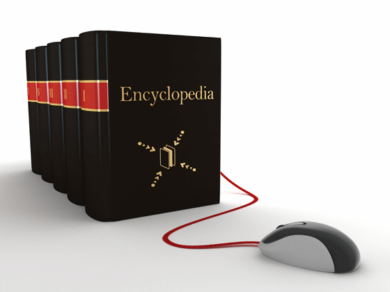 A new study examines biases between print and online encyclopedias .©iStock pluspng.com/adventtr - PNG Encyclopedia