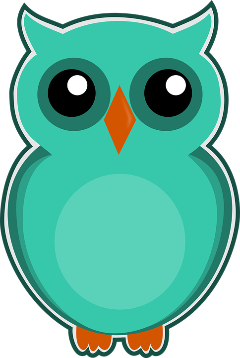 eule blau grün cartoon vogel niedlich tier natur - PNG Eule Blau