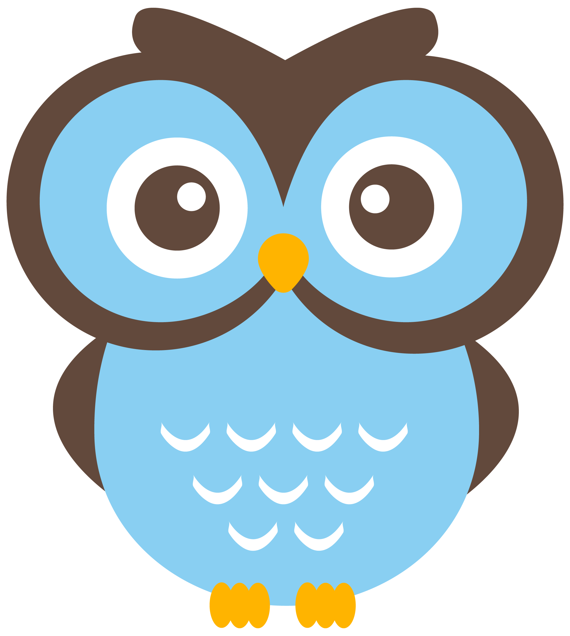 Owls on owl clip art owl and cartoon owls image #5 - PNG Eule Blau
