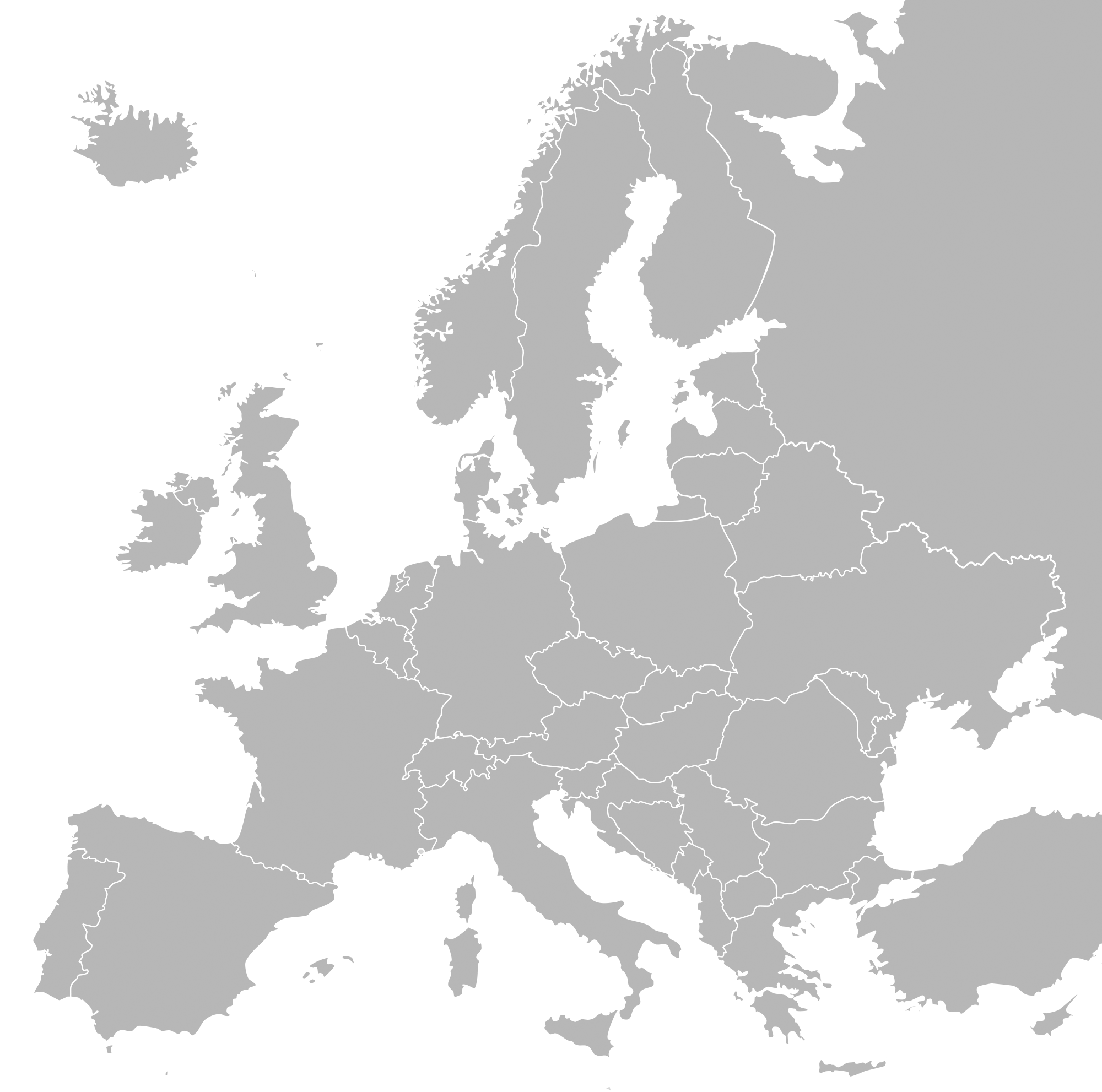 PNG Europe Map - 64397