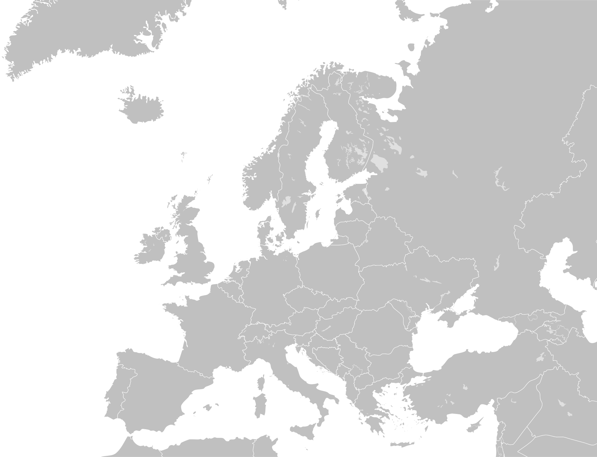 Image - Blank map of Europe.png | 1945-1991: Cold War world Wiki | FANDOM  powered by Wikia - PNG Europe Map