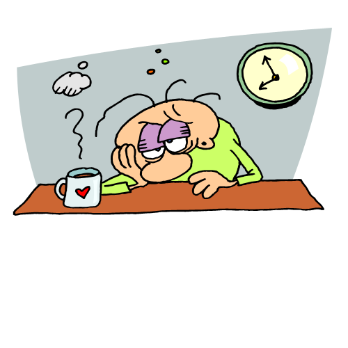 Exhausted Person Clipart - PNG Exhausted Person