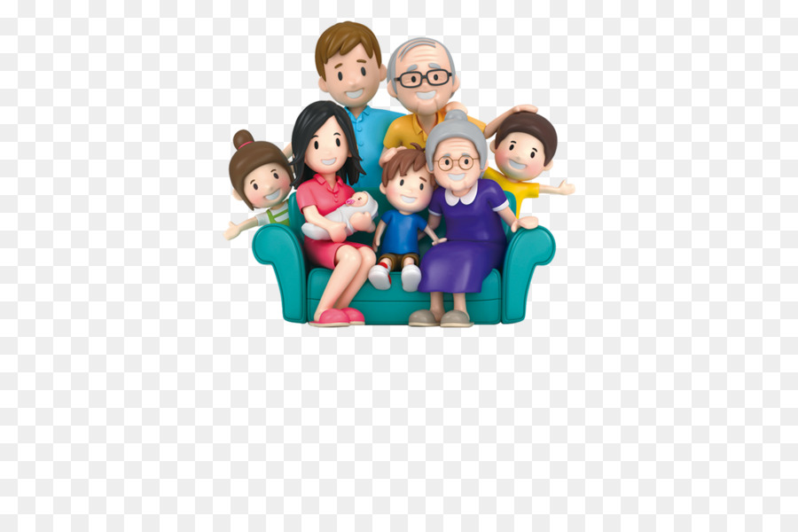 Extended family Clip art - 3D cartoon family portrait - PNG Extended Family