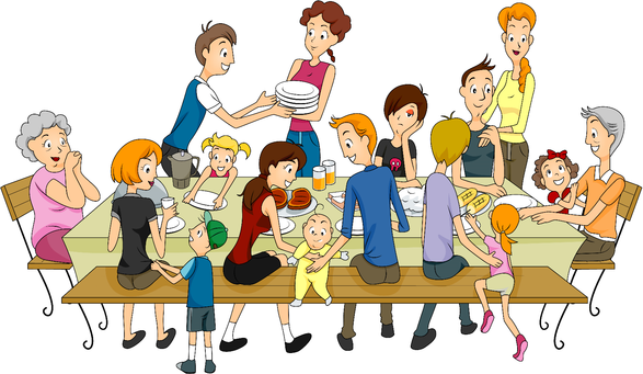 Extended Family Clipart Png - PNG Extended Family